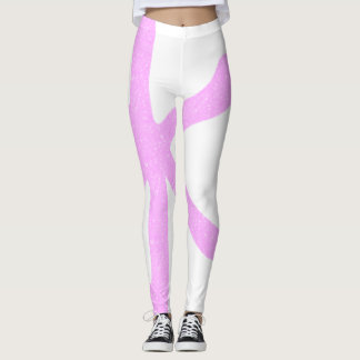 Trendy Japanese Pink Sparkles Party Leggings