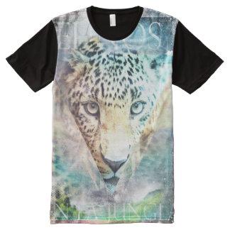 Trendy Jungle Design All-Over Print T-Shirt