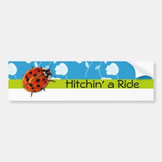 Trendy Ladybug Hitchin' A Ride Bumper Sticker