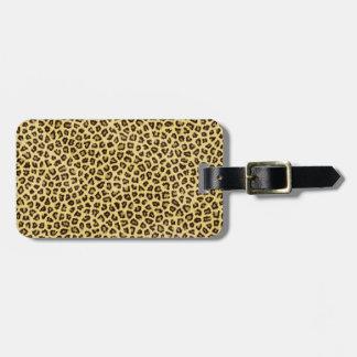 Trendy Leopard Cheetah Print Luggage Tag