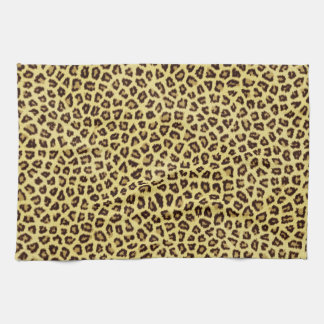 Trendy Leopard Cheetah Print Tea Towel