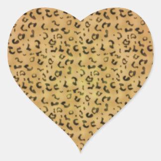Trendy Leopard Pattern Heart Sticker