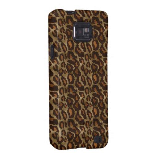 Trendy Leopard Print Pattern Samsung Galaxy S2 Covers