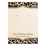 Trendy Leopard Print Pattern Earring Display Cards Pack Of Chubby Business Cards