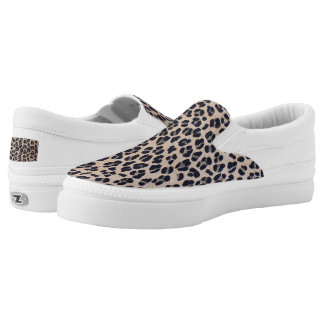 Trendy Leopard Print Slip On Sneakers Shoes