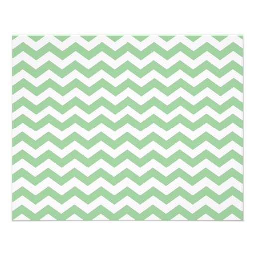 Trendy lime green chevron zigzag pattern, classic, personalized flyer