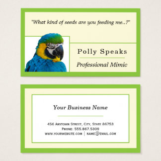 Trendy Lime Green Edge Nested Freelance Template Business Card