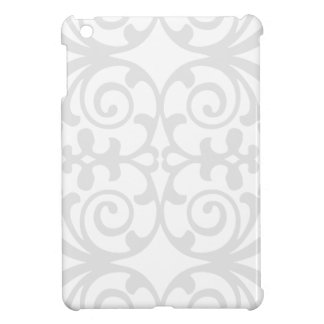 Trendy Lite Gray Damask Pattern iPad Mini Cases