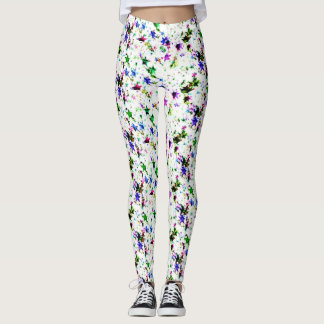 Trendy lovely colourful hearts Leggings