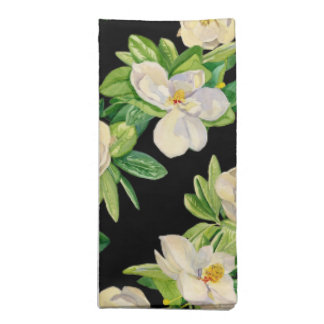 Trendy Magnolia Floral Decorative Dinner Napkin