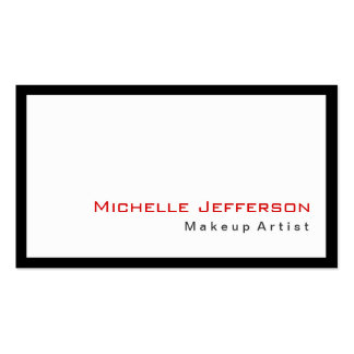 Trendy Makeup Artist Black White Red Business Card
