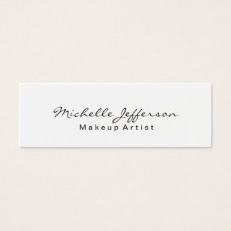 Trendy Makeup Artist White Script Business Card