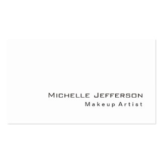 Trendy Makeup Artist White Style Business Card