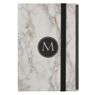 Trendy Marble Design Monogram Initial Cover For iPad Mini