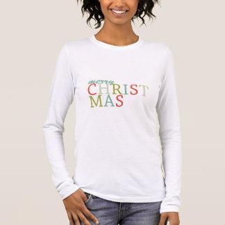 Trendy Merry Christmas typography Long Sleeve T-Shirt