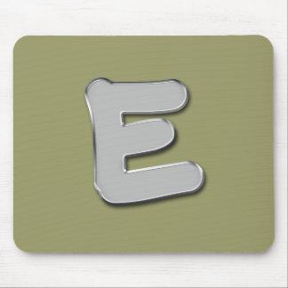 Trendy Metal Monogram Mousepads