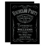 Trendy Metallic Silver Typography Bachelor Party 13 Cm X 18 Cm Invitation Card