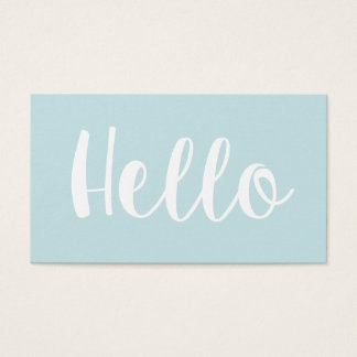 Trendy minimalist bold pastel blue business cards