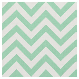 Trendy Mint Green Chevron Pattern Fabric