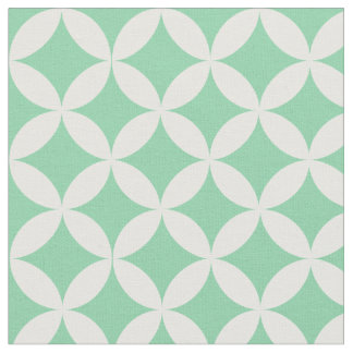 Trendy Mint Green Diamond Lattice Pattern Fabric