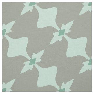 Trendy Mint Grey Retro Pattern Fabric