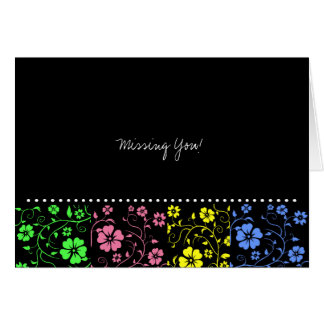 """Trendy """"Missing You"""" card"""