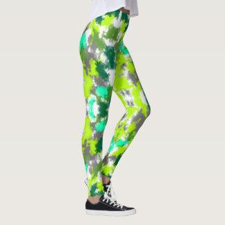 Trendy mixed greens art Leggings