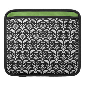 Trendy & Mod Black Damask iPad 2 Sleeve