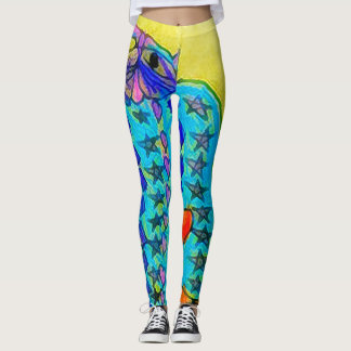 Trendy Modern Abstract Cat Leggings