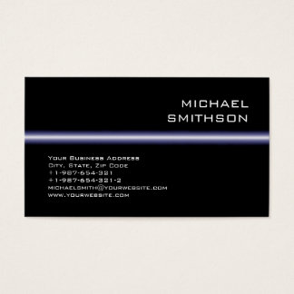 Trendy Modern Attractive Black Business Card