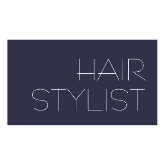 Trendy Modern Blue Hair Stylist Pack Of Standard Business Cards