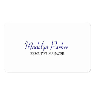 Trendy Modern Blue White Executive Manager Pack Of Standard Business Cards
