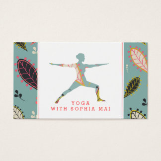 Trendy Modern Boho Yoga Instructor Business Card