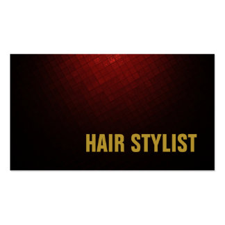 Trendy Modern Brownish Red Hair Stylist Pack Of Standard Business Cards