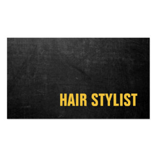 Trendy Modern Chalkboard Hair Stylist Pack Of Standard Business Cards