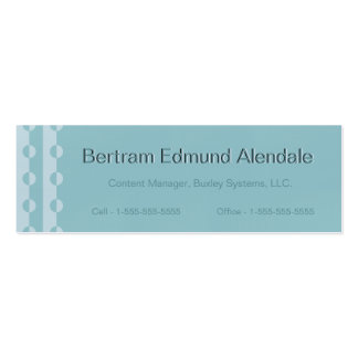 Trendy Modern Changeable Color Dot Slimline Cards Business Cards