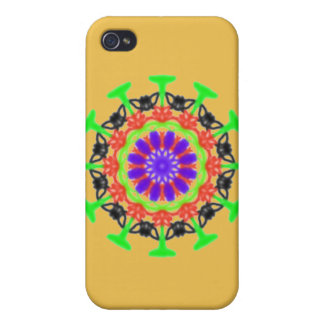 Trendy modern colorful pattern iPhone 4 case