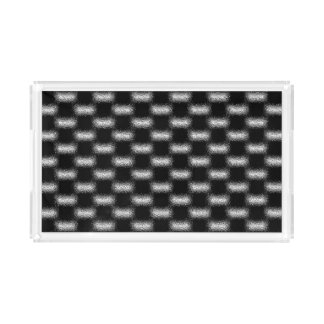 Trendy Modern Cool Unique Abstract Patterns Acrylic Tray