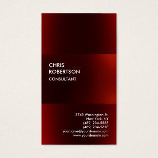 Trendy Modern Dark Red Business Card
