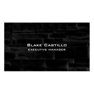 Trendy Modern Elegant Black Grey Wall Bricks Pack Of Standard Business Cards