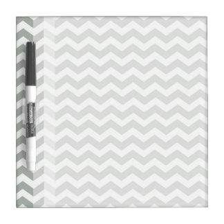 Trendy, modern, elegant grey chevron zigzag stripe dry erase board