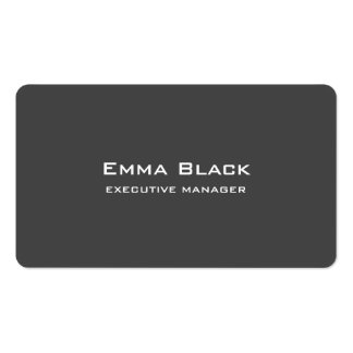 Trendy Modern Elegant Grey Executive Manager Pack Of Standard Business Cards