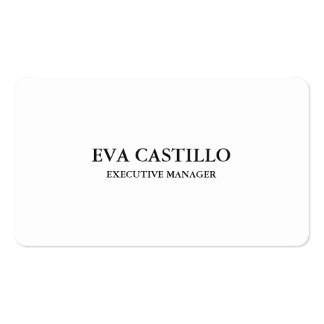 Trendy Modern Elegant Simple White Manager Pack Of Standard Business Cards
