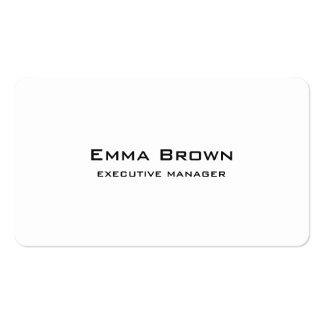 Trendy Modern Elegant White Executive Manager Pack Of Standard Business Cards