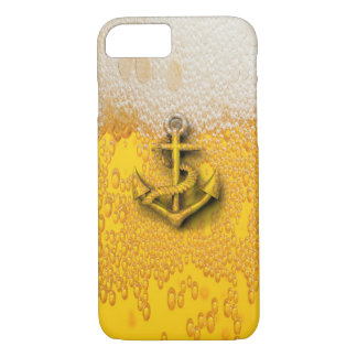 Trendy modern fun beer nautical anchor iPhone 7 case