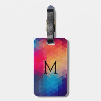Trendy Modern Mosaic Geometric Pattern Bag Tag