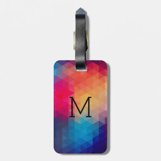 Trendy Modern Mosaic Geometric Pattern Luggage Tag