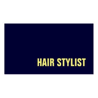 Trendy Modern Navy Blue Hair Stylist Pack Of Standard Business Cards