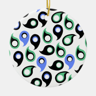 Trendy Modern Paisley Pattern Christmas Tree Ornaments