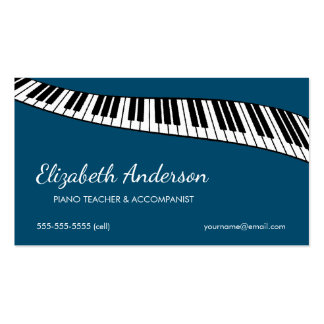 Trendy & Modern, Piano Teacher & Accompanist Pack Of Standard Business Cards
